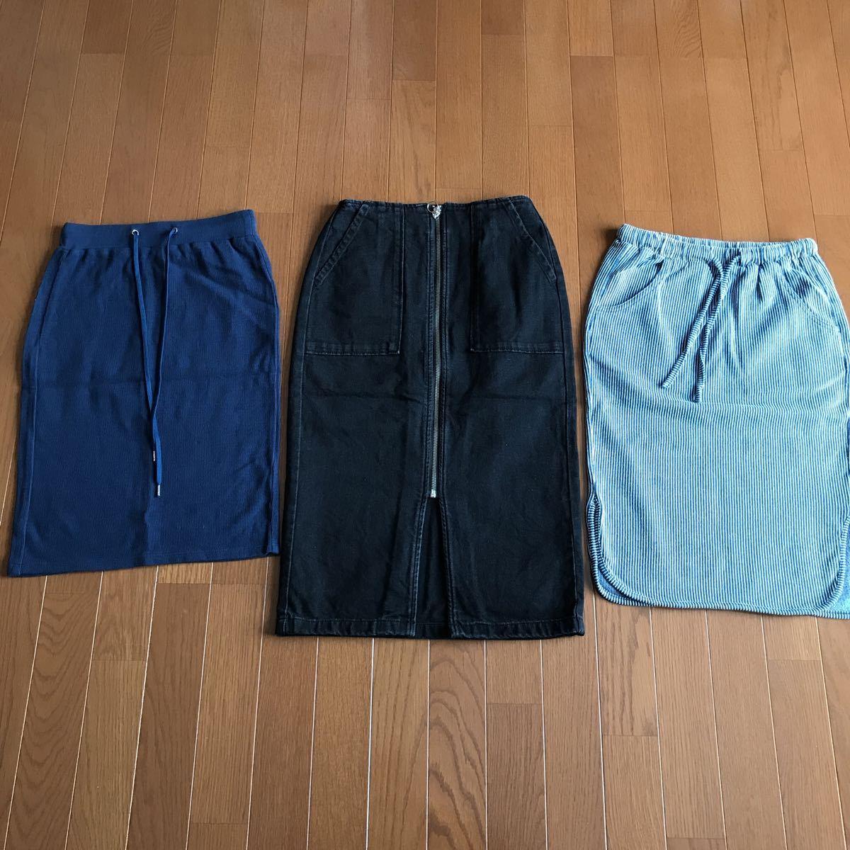 GUスカート3枚セット 全てSサイズ_画像1