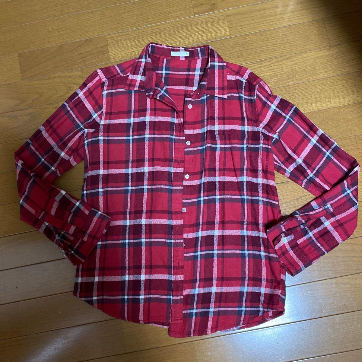 GU  チェックシャツ ネルシャツ チェック柄 長袖シャツ