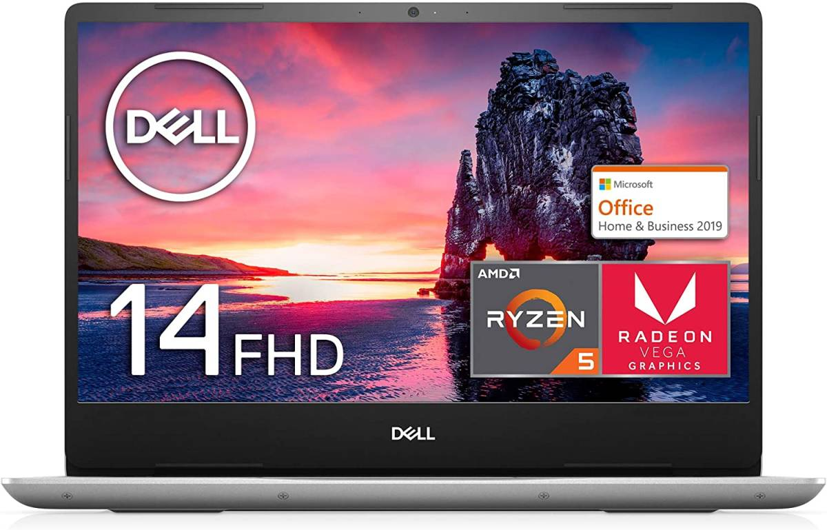 【MS Office Home&Business付き】Dell Inspiron ノートパソコン 14 5000 Ryzen 5 Office