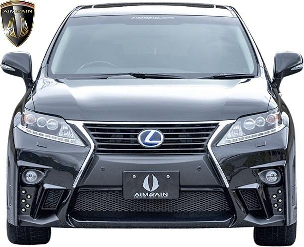 【M's】レクサス 10系 RX 後期 RX450h RX350 RX270 (2012.4-2015.10) AIMGAIN 純VIP GT フロントバンパー // FRP エイムゲイン エアロ_画像4