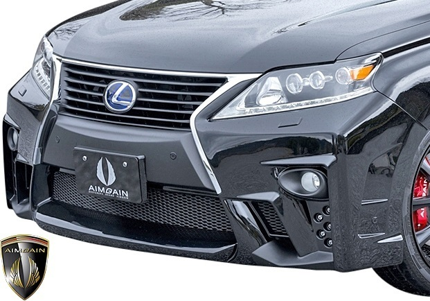 【M's】レクサス 10系 RX 後期 RX450h RX350 RX270 (2012.4-2015.10) AIMGAIN 純VIP GT フロントバンパー // FRP エイムゲイン エアロ_画像2