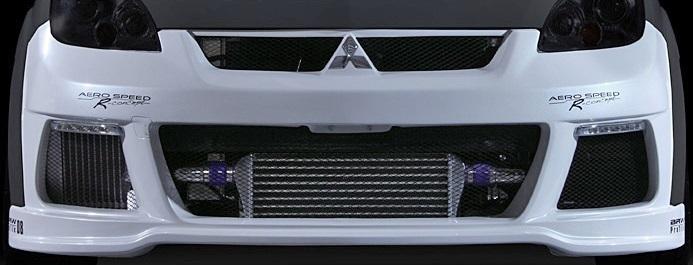 【M's】三菱 コルト ラリーアート バージョンR(07/11-)BLITZ AERO SPEED フロントバンパースポイラー (デイライト付)/FRP ブリッツ 60131_画像2