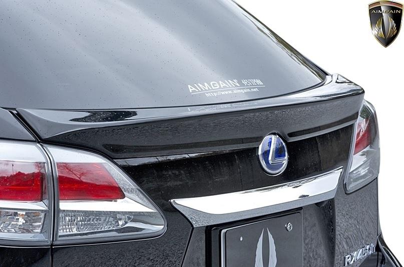 【M's】LEXUS 10系 RX 後期 RX450h RX350 RX270 (2012.4-2015.10) AIMGAIN 純VIP GT リヤゲートスポイラー // FRP エイムゲイン エアロ_画像1