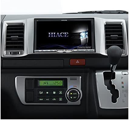【新品】ALPINEアルパインX8V-RE2 レジアスエース(ハイエース) スーパーGL標準ボディ用8型ナビ フルセグTV・DVD再生・CD録音・Bluetooth_オープニングをハイエースに変更可能。(注