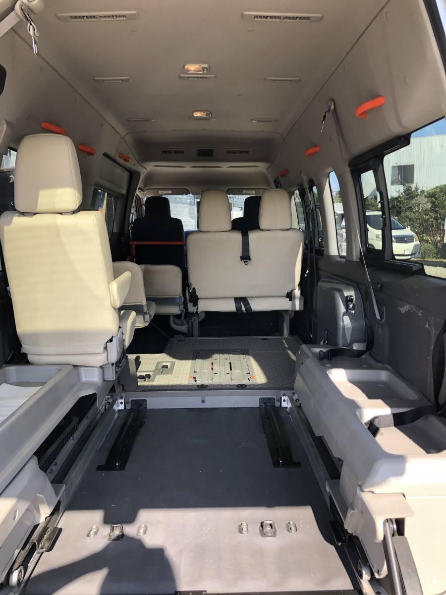 「NV350 キャラバン 車いす移動車 福祉車両 パワーゲート リフト 8ナンバー ハイルーフ チェアキャブ ウェルキャブ トランポ スローパー」の画像2
