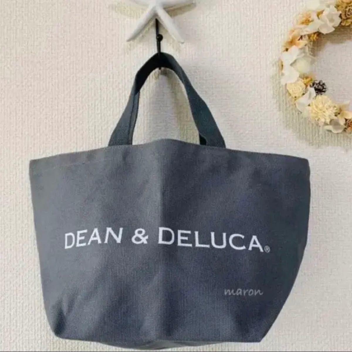 DEAN&DELUCAグレーSサイズ トートバッグエコバッグ ショッピングバッグ