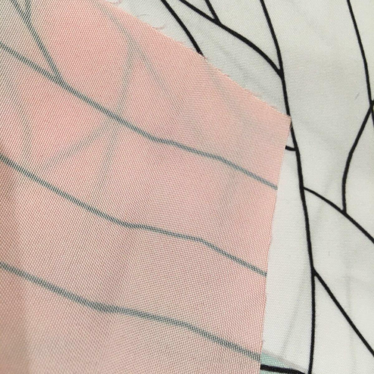 生地 鬼滅の刃 こちょうしのぶ柄 横巾74cm×縦巾1m