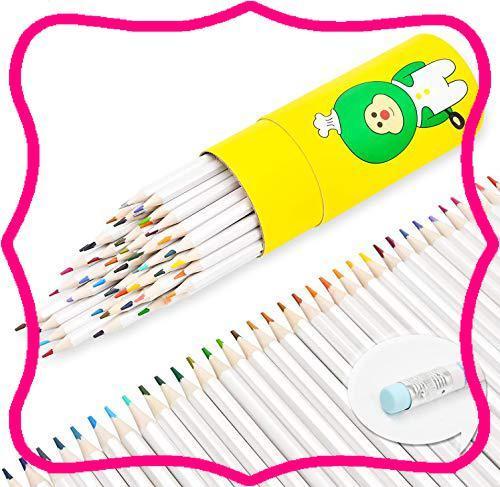 色鉛筆 画材セット 48色 消しゴム 油性色鉛筆 文房具 塗り絵 プレゼント用 子供学生大人向け 学校教材用 野外写生 室内絵作り_画像1