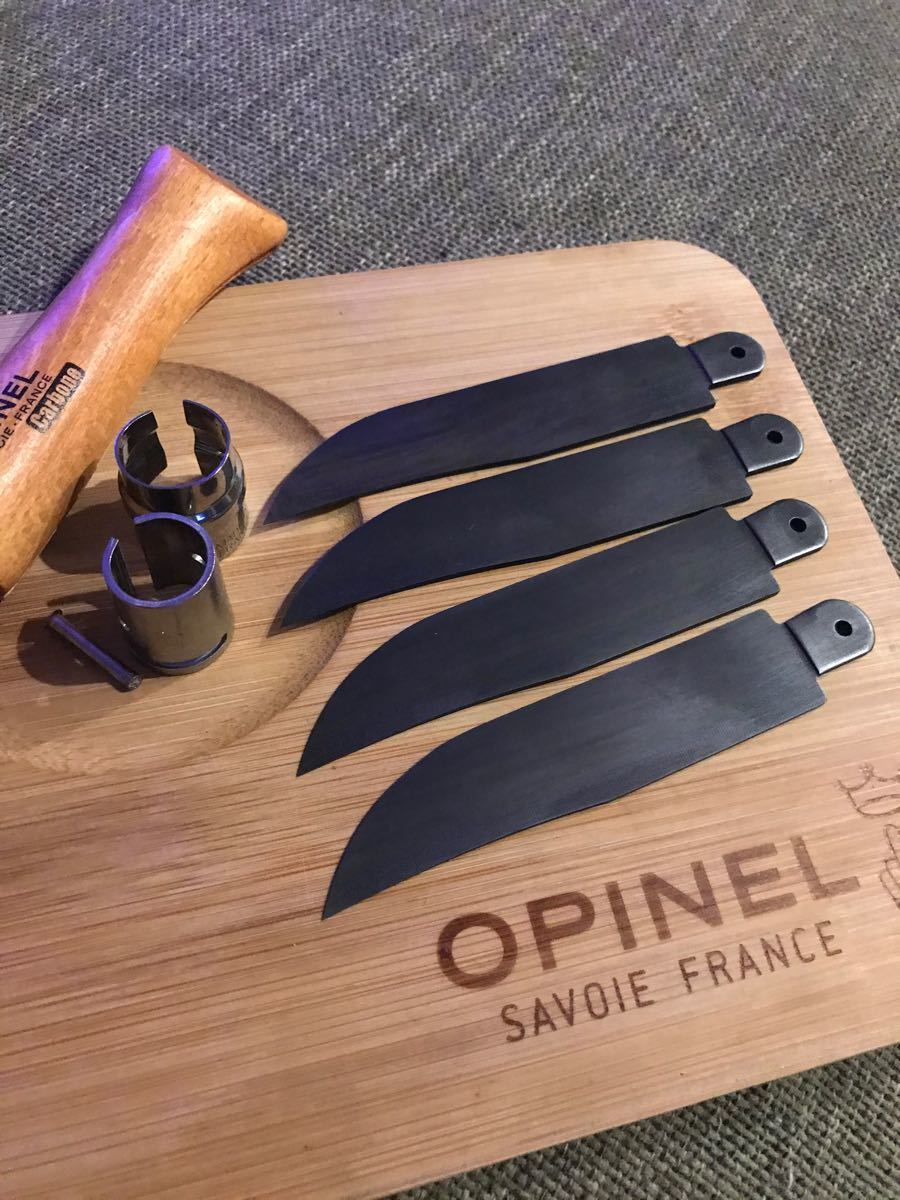 Aランク オピネル Opinel No.9 カーボン 黒錆加工済み 2本セット