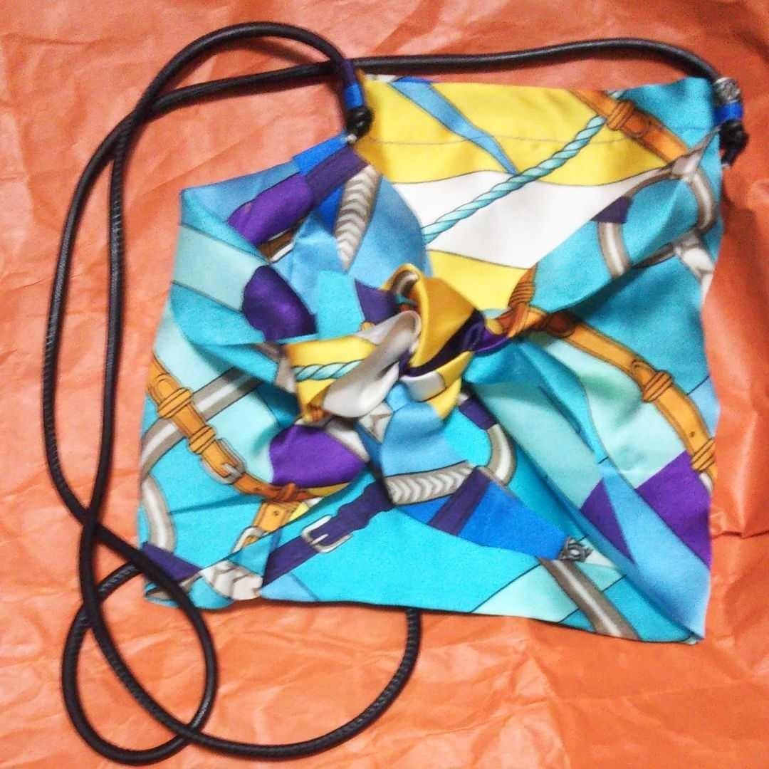 バッグ ウエストポーチ スカーフショルダーミニバッグ
