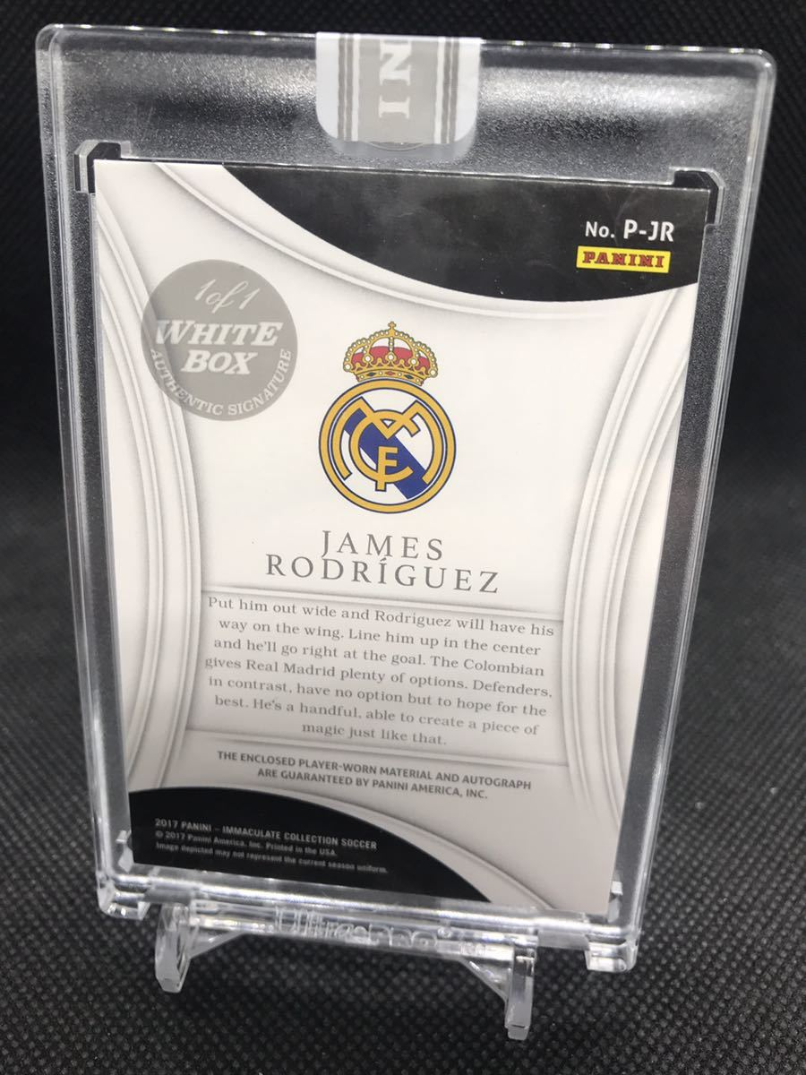 1/1PANINI immaculate soccer ハメス 直書きサイン white box_画像2