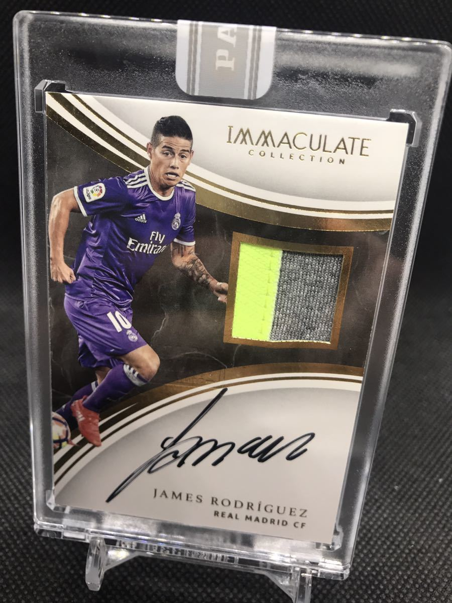 1/1PANINI immaculate soccer ハメス 直書きサイン white box_画像1