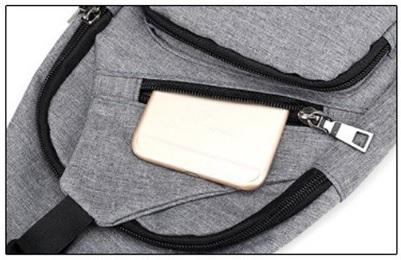 灰色Meidoneボディバッグ ショルダーバッグ メンズ 斜め掛け ワンショルダー バッグ 軽量 防滴 通勤 通学 旅行用かばん 男女兼用