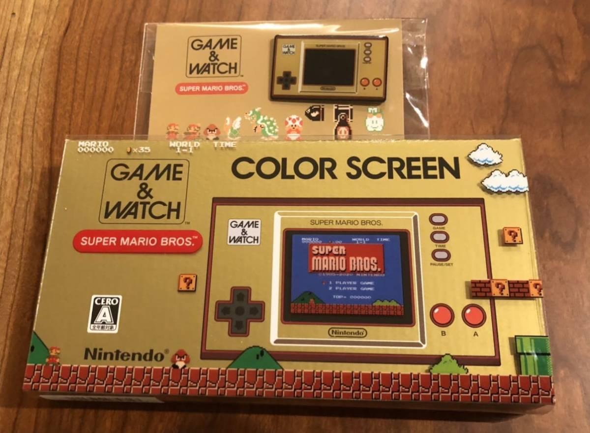 【新品】任天堂 Nintendo ゲーム&ウオッチ スーパーマリオブラザーズ オリジナルピンズ同梱