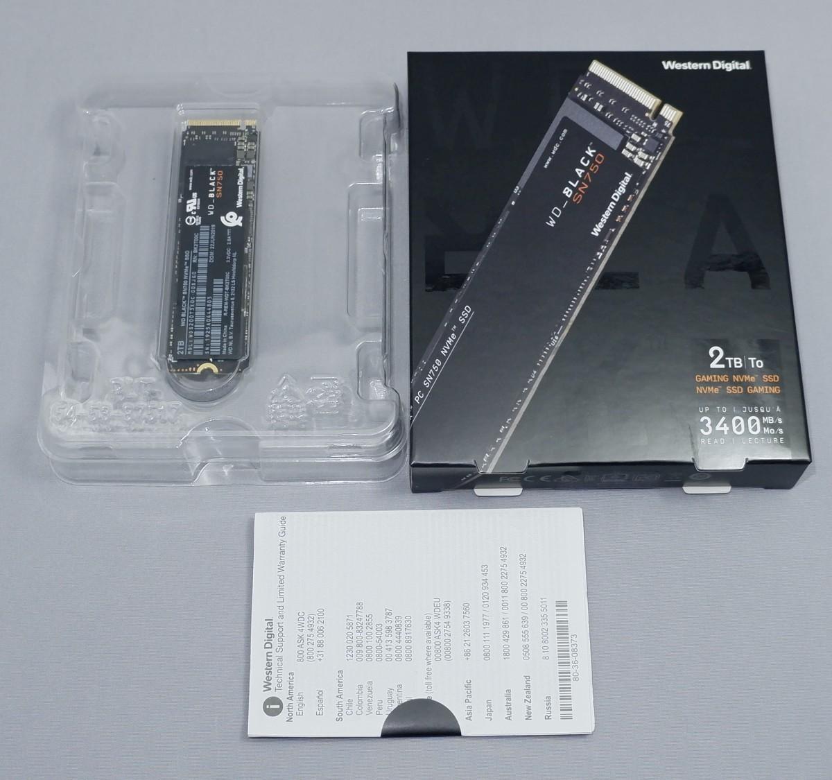 WD Black NVMe SSD SN750 2TB WDS200T3X0C M.2 2280 3.4GB/s
