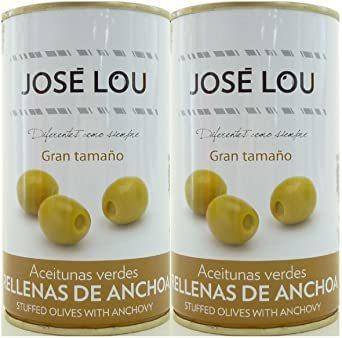ホセルー アンチョビ入りグリーンオリーブ 150g×2缶 ワインおつまみ スペイン  _画像1