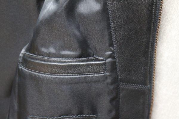 シープスキン ミニマムスタイル シングルライダース レザージャケット ブラック 4XLサイズ(46) イタリアンレザー ラム 羊革_画像10