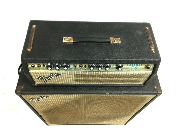 【引取限定】ジャンク Fender Bassman 70 キャビネット セット フェンダー 直 Y5301409_画像2