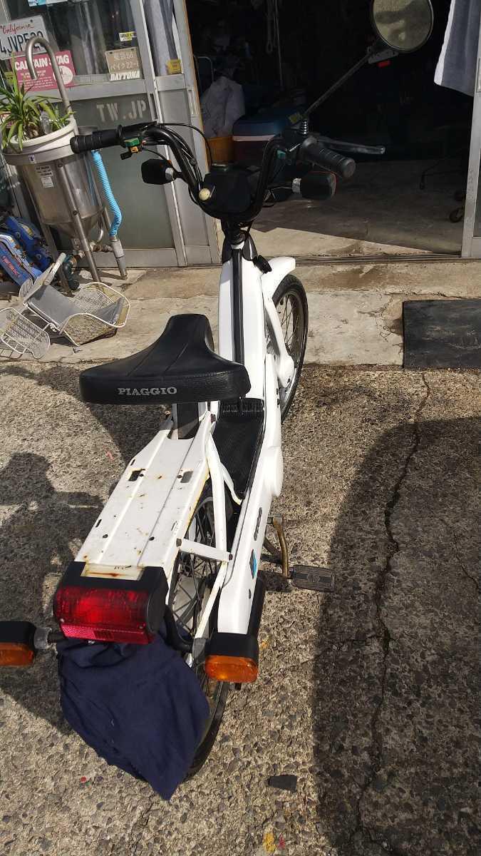 「チャオ 白 、赤 二台 チャンバー付き 中古 ピアジオ ポリーニ 自転車バイク 山陰」の画像2