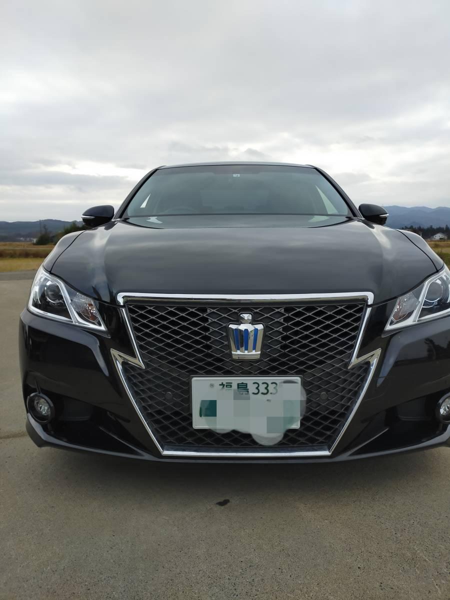 トヨタクラウンアスリートSハイブリッド車検付43266km極上美車バリ溝スタッドレスH25年式