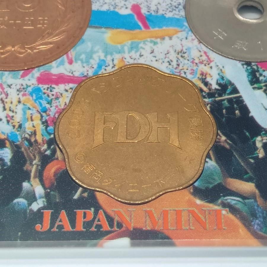 激レア!2003年 パシフィックリーグ優勝記念 福岡ダイエーホークス 貨幣セット 平成15年 造幣局 硬貨 記念硬貨 貨幣 メダル コイン MH28ZCC_画像5