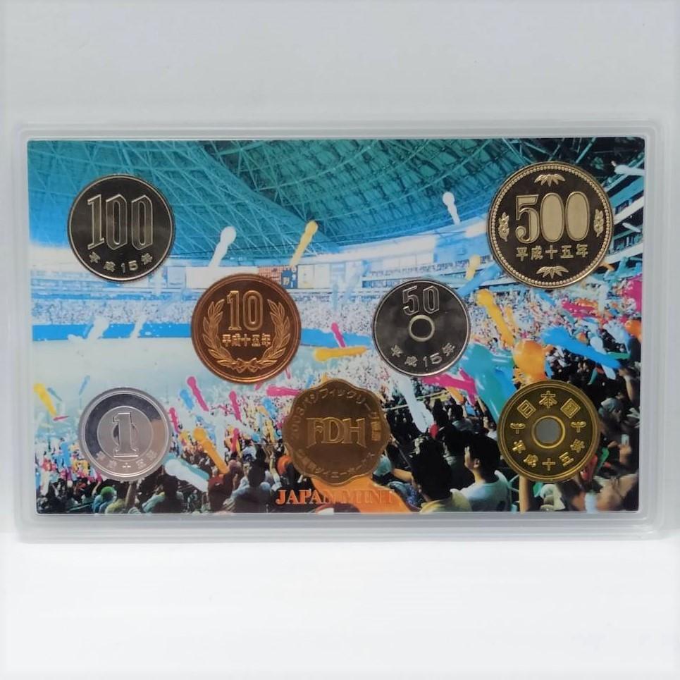 激レア!2003年 パシフィックリーグ優勝記念 福岡ダイエーホークス 貨幣セット 平成15年 造幣局 硬貨 記念硬貨 貨幣 メダル コイン MH28ZCC_画像3