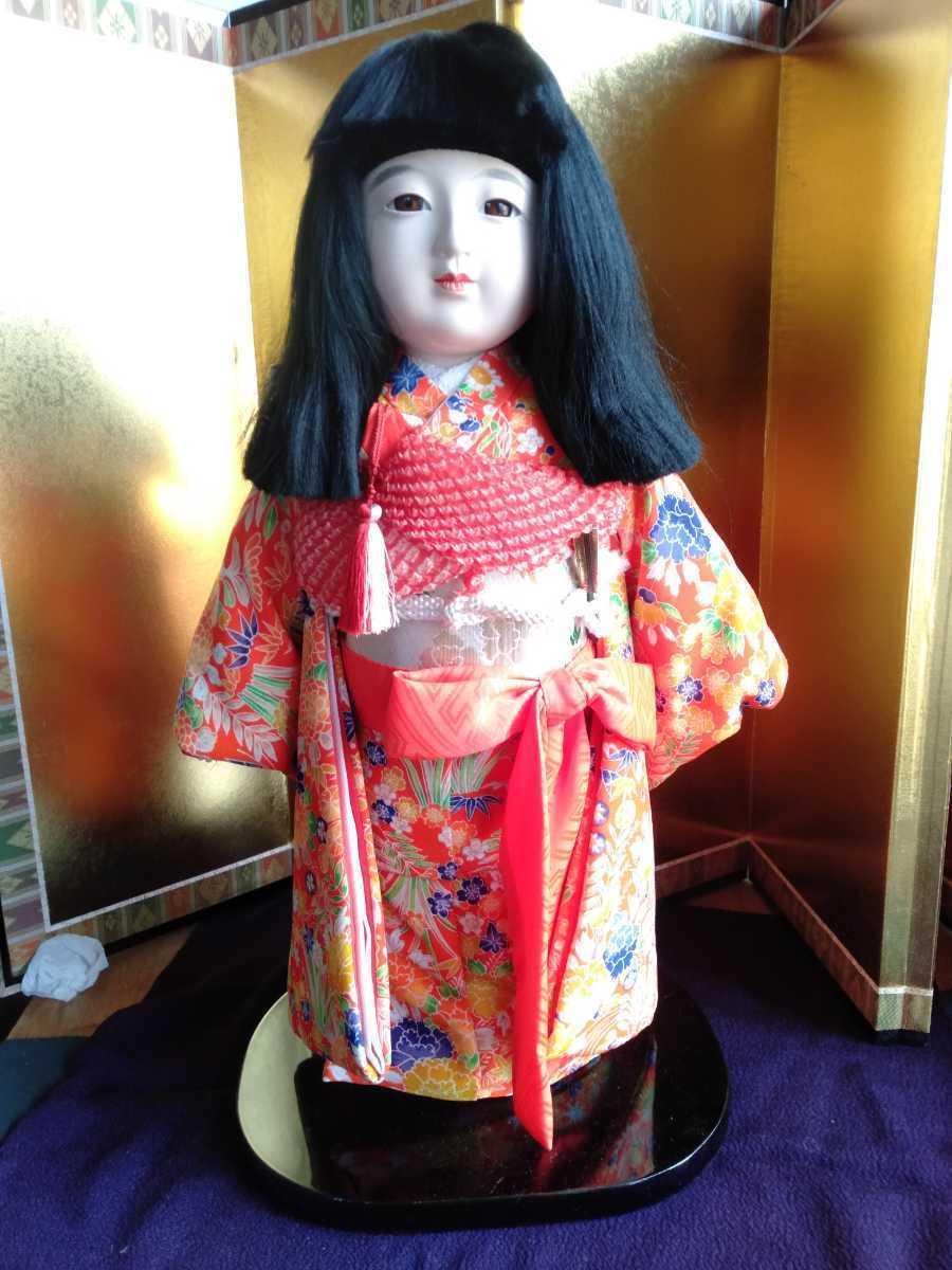[市松人形]雛人形/お迎え人形/高さ45cm 人形、キャラクタードール&日本人形&市松人形