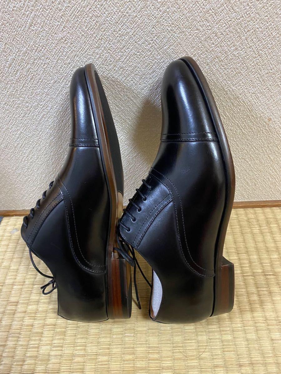 ビジネスシューズ 紳士靴 メンズ 本革 ストレートチップ 25cm