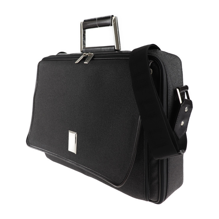 美品 Dunhill ダンヒル ブリーフケース ビジネスバッグ PVC ブラック系 ショルダー 2way【本物保証】_画像2