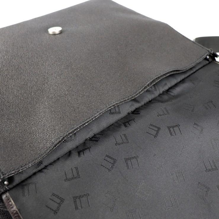 美品 Dunhill ダンヒル ブリーフケース ビジネスバッグ PVC ブラック系 ショルダー 2way【本物保証】_画像8