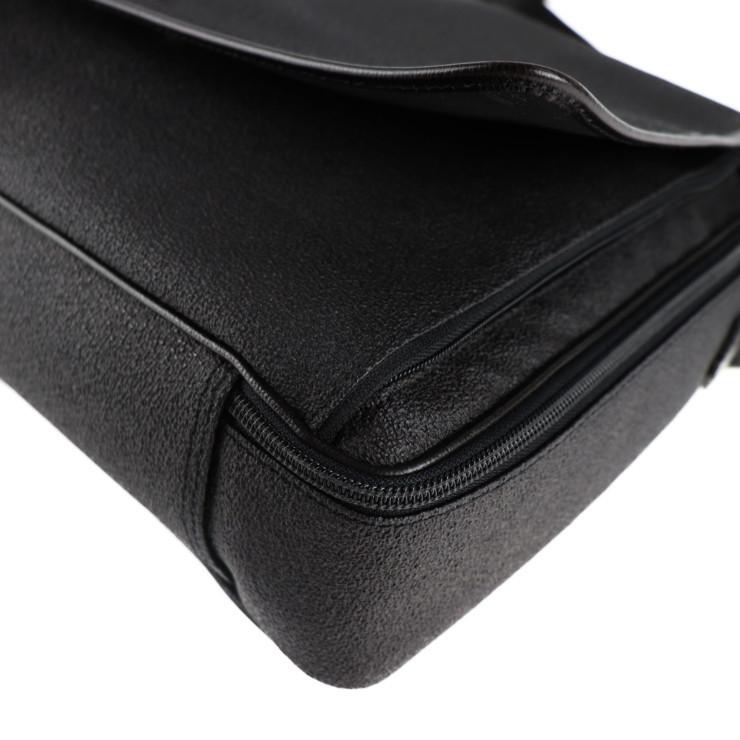 美品 Dunhill ダンヒル ブリーフケース ビジネスバッグ PVC ブラック系 ショルダー 2way【本物保証】_画像7