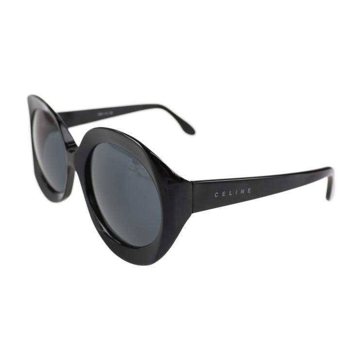 美品 CELINE セリーヌ SC1546 COL.700 サングラス プラスチック ブラック レンズ:クリアブラック【本物保証】