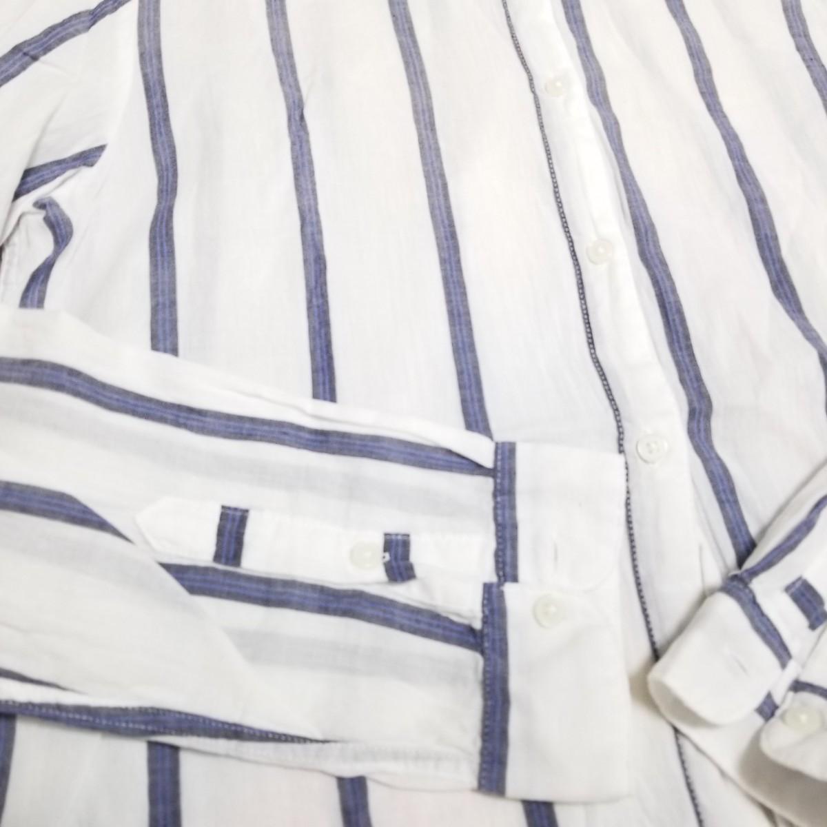 ストライプシャツ 長袖シャツ