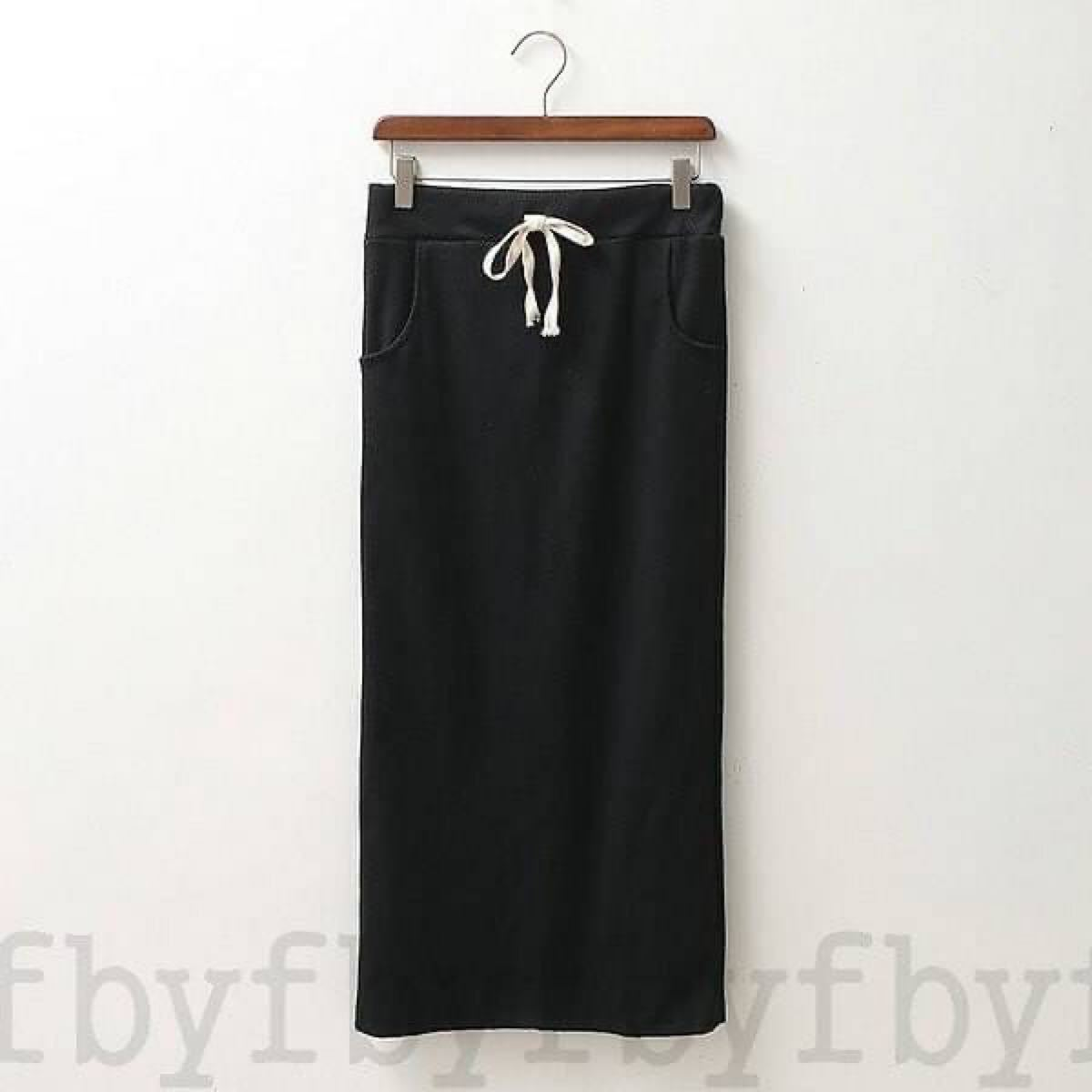 ロングタイトスカート フリー ブラック ロング タイト スカート