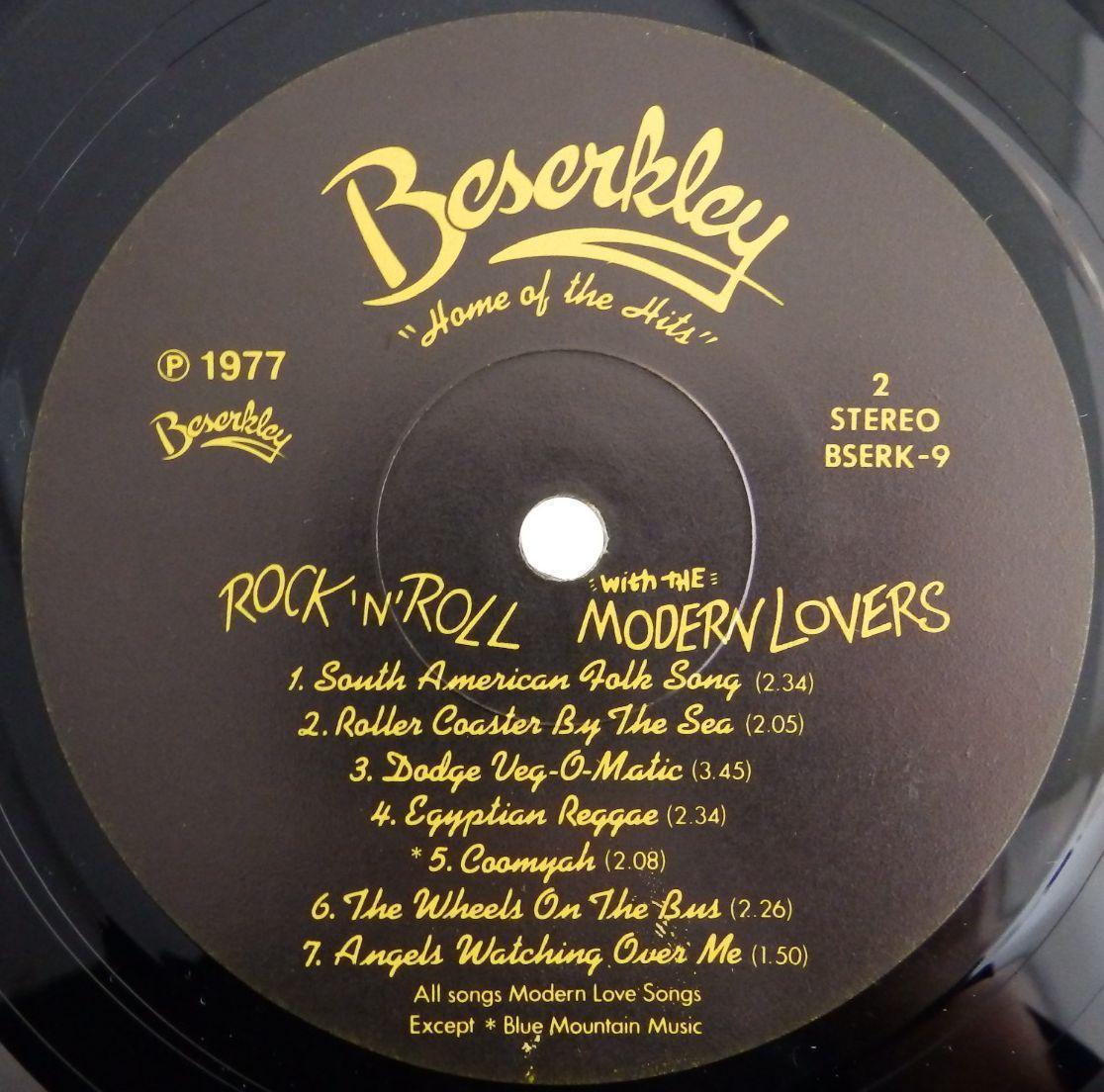 23009330;【廃盤】美再生 BESERKLEY 完全 オリジナル US盤 JONATHAN RICHMAN THE MODERN LOVERS Rock N roll ジョナサン リッチマン_画像5