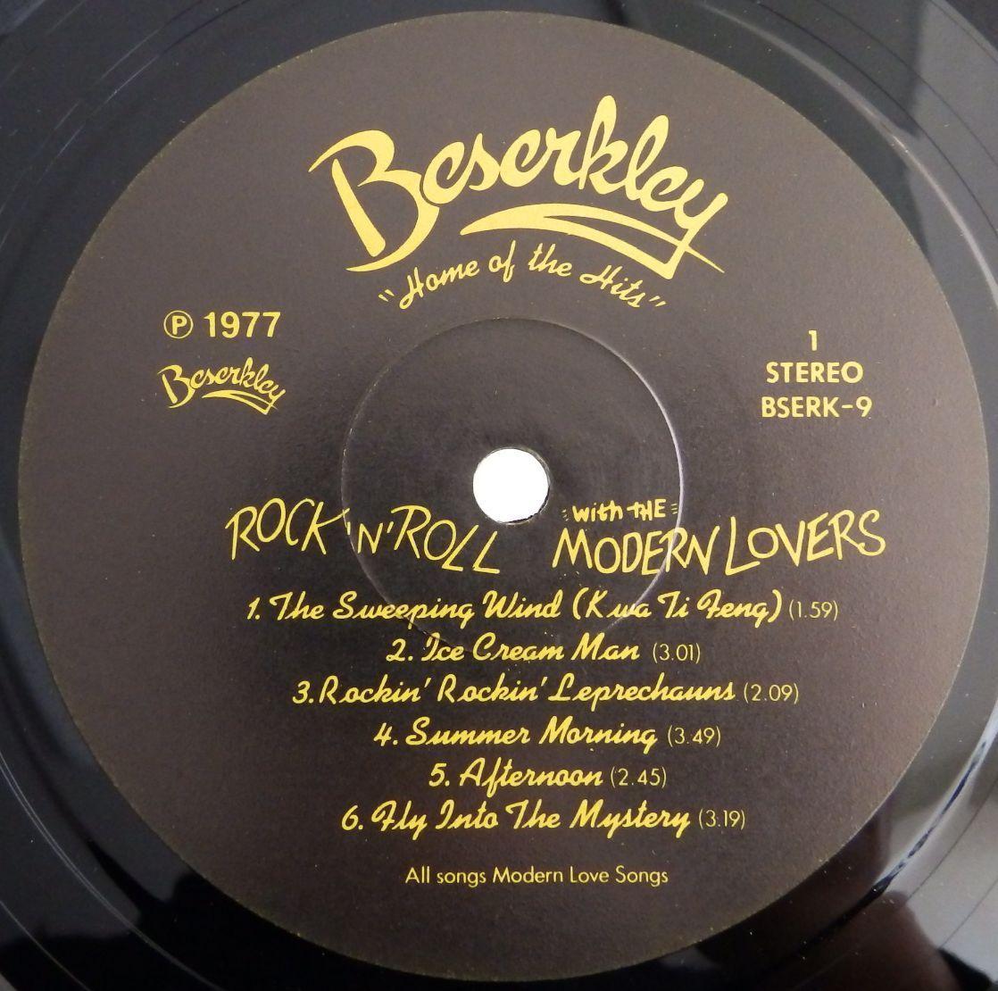 23009330;【廃盤】美再生 BESERKLEY 完全 オリジナル US盤 JONATHAN RICHMAN THE MODERN LOVERS Rock N roll ジョナサン リッチマン_画像4