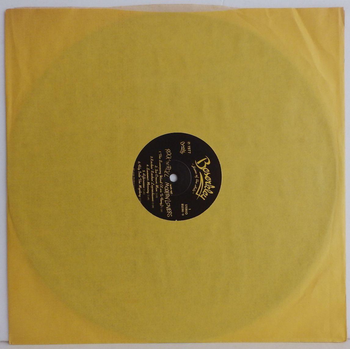 23009330;【廃盤】美再生 BESERKLEY 完全 オリジナル US盤 JONATHAN RICHMAN THE MODERN LOVERS Rock N roll ジョナサン リッチマン_画像3