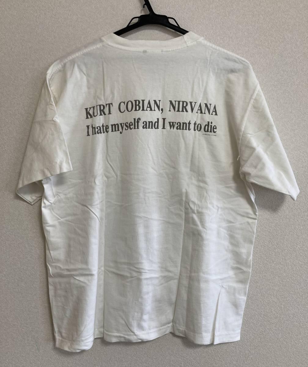 レア!希少!! カートコバーン KURTCOBAIN バンドTシャツ ヴィンテージ vintage ニルヴァーナ NIRVANA サイズL_画像3