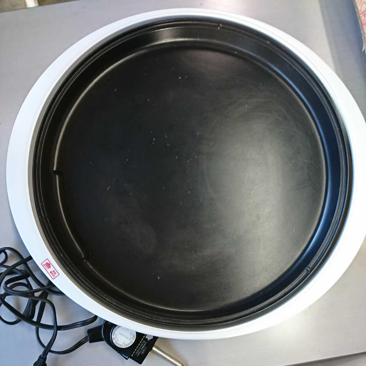 家電3】MITSUBISHI 三菱 ホットプレート HL-B20 EG ユーログレー グレー 調理器具 【通電確認済】お好み焼き 焼肉 焼物 焼そば_画像2