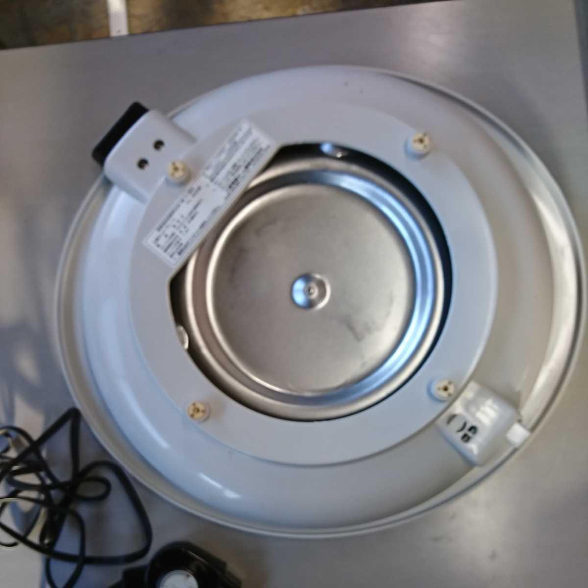 家電3】MITSUBISHI 三菱 ホットプレート HL-B20 EG ユーログレー グレー 調理器具 【通電確認済】お好み焼き 焼肉 焼物 焼そば_画像6