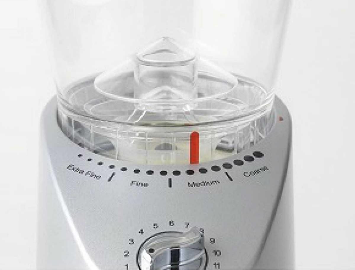 【デロンギ】 コーン式コーヒーグラインダー KG366J (シルバー)