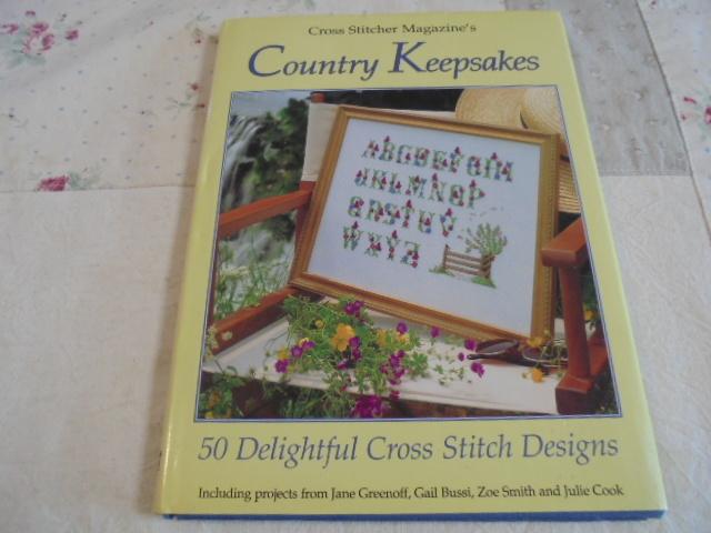 洋書クロスステッチ Country Keepsakes レトロ カントリー サンプラー 花 海 おもちゃ 思い出