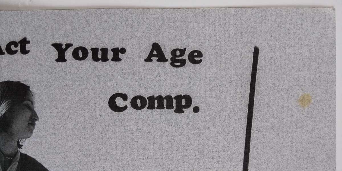 Act Your Age Comp. 7EP Pop Punk Emo Sore Loser Jessica Six Dig Dug Jill