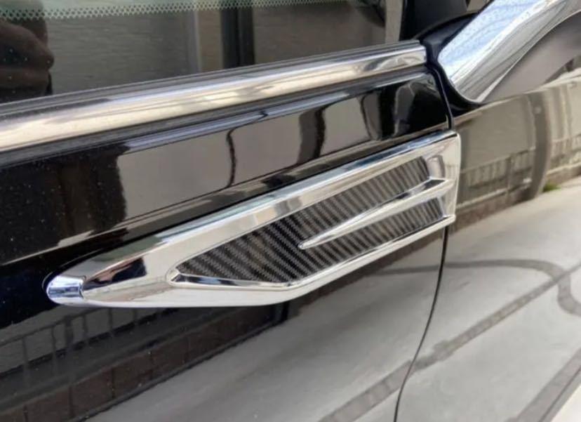 トヨタ新型30系アルファード、ヴェルファイア用 サイドガーニッシュ 左右セット_画像2