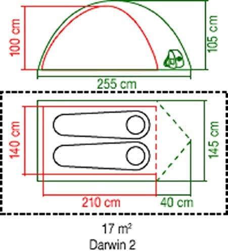 ★ アウトドア キャンプ ★ Coleman Darwin 2 ダーウィン 2 ドーム型テント  / 国内未発売レアモデル 耐水圧3000mm / 新品 送料無料
