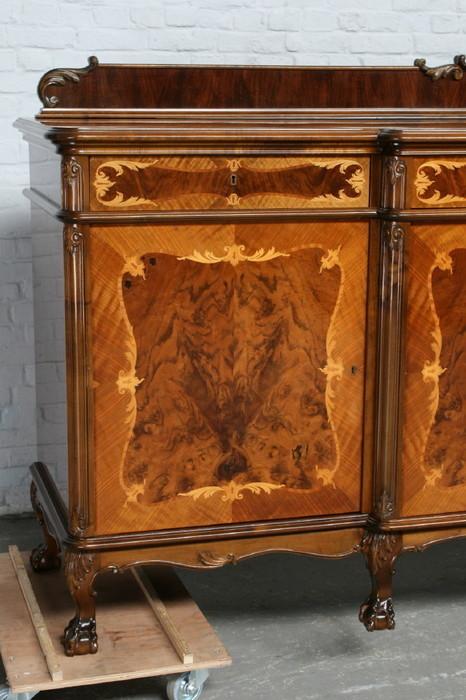 品番7181ヨーロッパ市場在庫品アンティーク家具ダイニング9点セット現地在庫商品1940年代ベルギー原産ウォールナット製_画像5
