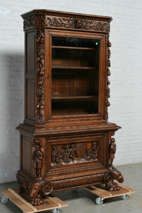 品番6572aヨーロッパ市場在庫品アンティーク家具ダイニング10点セット現地在庫商品1920年代ベルギー原産オーク製_画像10