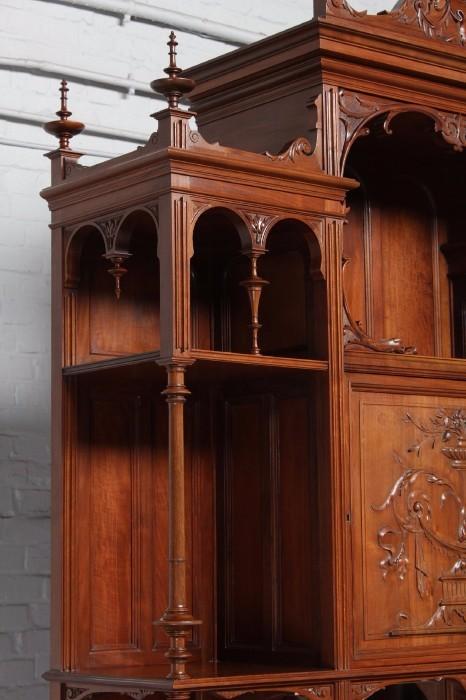 品番8023ヨーロッパ市場在庫品アンティーク家具ダイニング10点セット現地在庫商品1900年代ベルギー原産ウォールナット製_画像4