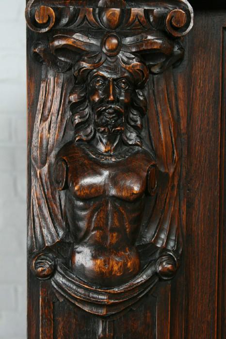 品番1695ヨーロッパ市場在庫品アンティーク家具ダイニング9点セット現地在庫商品1920年代ベルギー原産オーク製_画像5