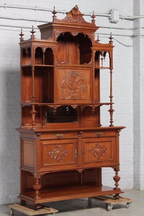 品番8023ヨーロッパ市場在庫品アンティーク家具ダイニング10点セット現地在庫商品1900年代ベルギー原産ウォールナット製_画像2